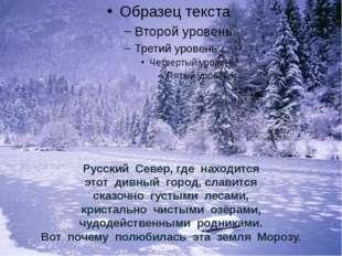 Русский Север, где находится этот дивный город, славится сказочно густыми лес