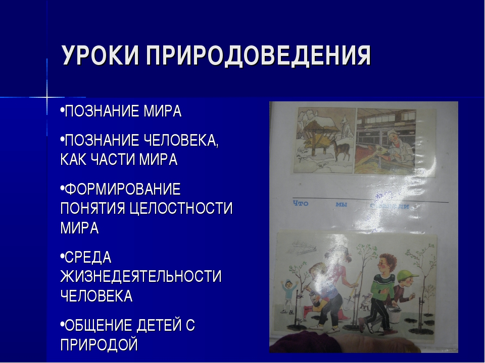УРОКИ ПРИРОДОВЕДЕНИЯ ПОЗНАНИЕ МИРА ПОЗНАНИЕ ЧЕЛОВЕКА, КАК ЧАСТИ МИРА ФОРМИРОВ...