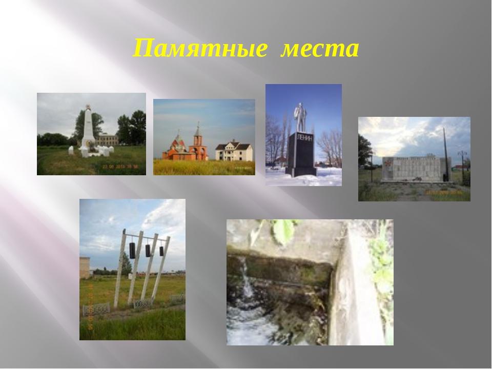 Памятные места