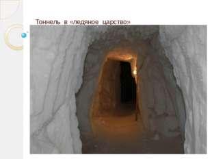 Тоннель в «ледяное царство»