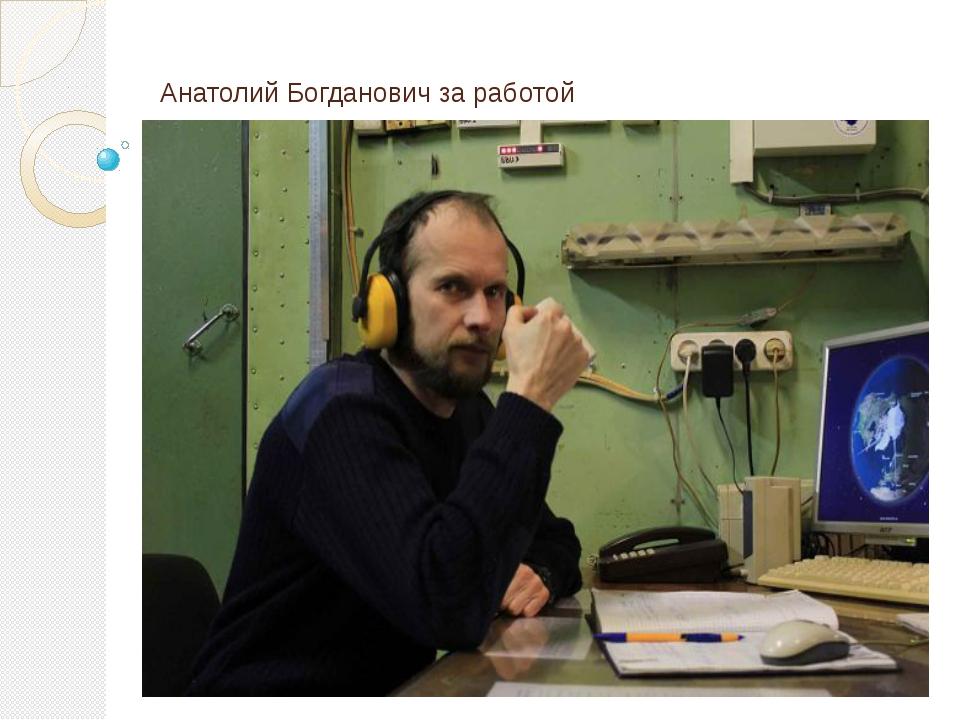 Анатолий Богданович за работой