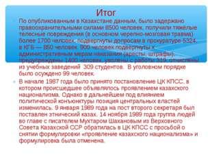 По опубликованным в Казахстане данным, было задержано правоохранительными сил