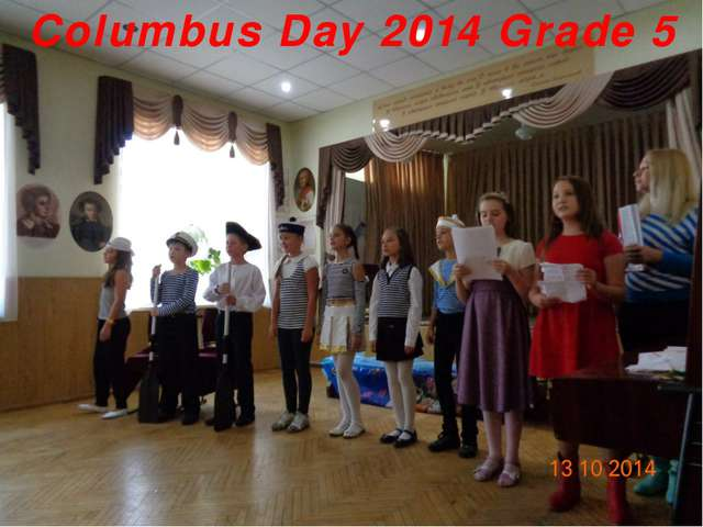 Columbus Day 2014 Grade 5