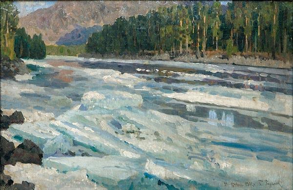 Г.И. Чорос-Гуркин. Оттепель. Река Катунь. 1902