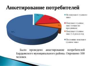 Было проведено анкетирование потребителей Бардымского муниципального района.