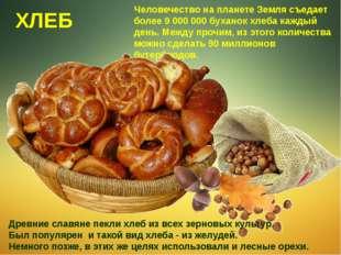 Человечество на планете Земля съедает более 9 000 000 буханок хлеба каждый де