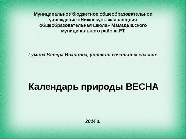 Муниципальное бюджетное общеобразовательное учреждение «Нижнесуньская средня...