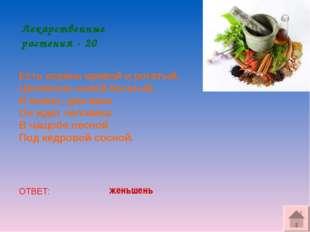 Лекарственные растения - 20 Есть корень кривой и рогатый, Целебною силой бога