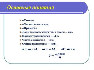 Основные понятия
