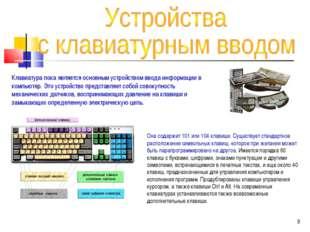 Клавиатура пока является основным устройством ввода информации в компьютер. Э
