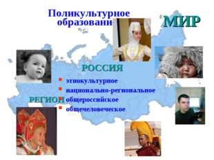 Поликультурное образование: МИР РОССИЯ РЕГИОН этнокультурное национально-реги