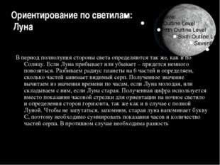 Ориентирование по светилам: Луна В период полнолуния стороны света определяют
