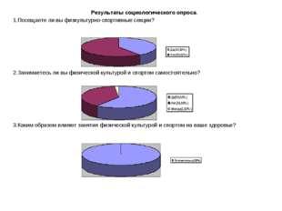 Результаты социологического опроса. 1.Посещаете ли вы физкультурно-спортивны