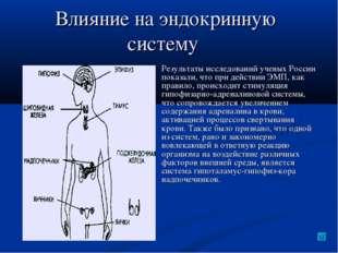 Влияние на эндокринную систему Результаты исследований ученых России показали
