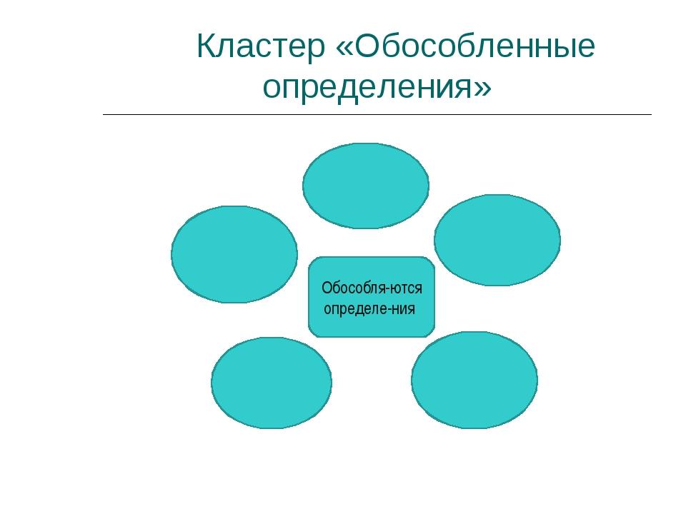 Кластер «Обособленные определения» Обособля-ются определе-ния