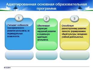 09.12.2014 Адаптированная основная образовательная программа