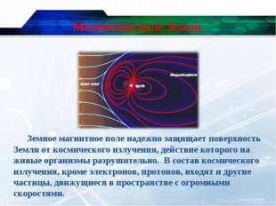 Магнитное поле Земли Земное магнитное поле надежно защищает поверхность Земли