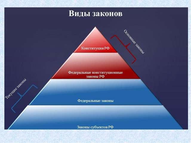ВИДЫ ЗАКОНОВ РФ