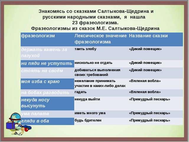 Знакомясь со сказками Салтыкова-Щедрина и русскими народными сказками, я наш...