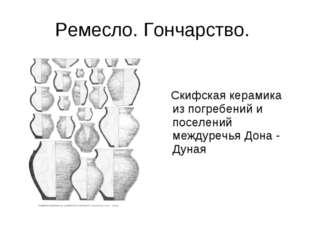 Ремесло. Гончарство. Скифская керамика из погребений и поселений междуречья Д