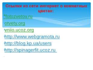 *fotozvetov.ru otvety.org vniio.ucoz.org http://www.webgramota.ru http://blog