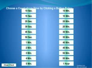 Choose a Count down Time by Clicking a Button Below. 55 Min. 50 Min. 45 Min.