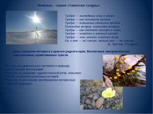 Февраль – серия «Таинства тундры» Тундра — загляденье озер в закат. Тундра —