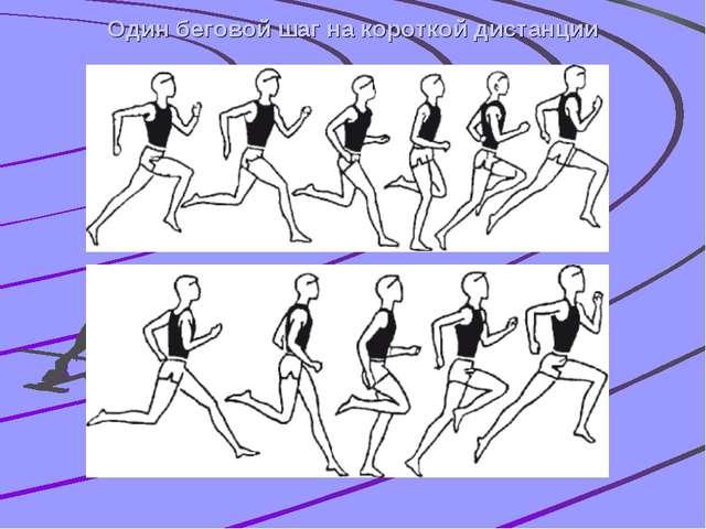Один беговой шаг на короткой дистанции