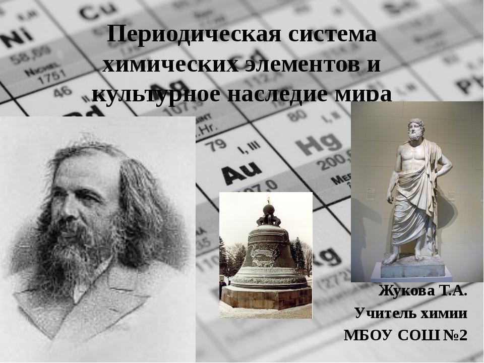 Периодическая система химических элементов и культурное наследие мира Жукова...