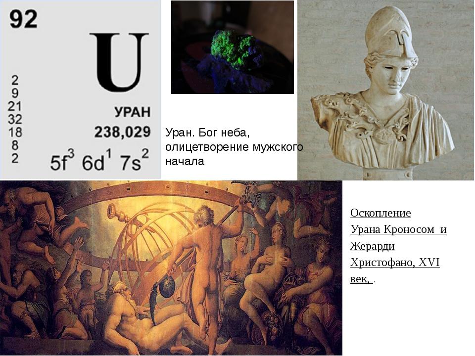 Уран. Бог неба, олицетворение мужского начала Оскопление УранаКроносом и Же...