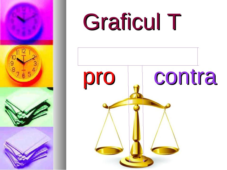 Graficul T pro contra