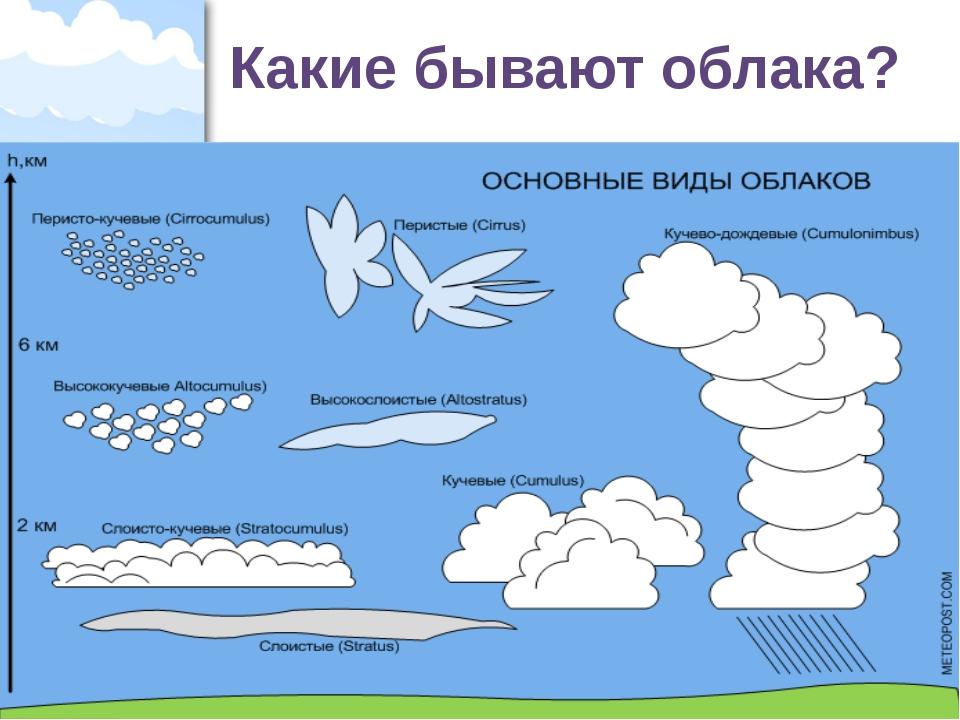 Какие бывают облака? ProPowerPoint.Ru