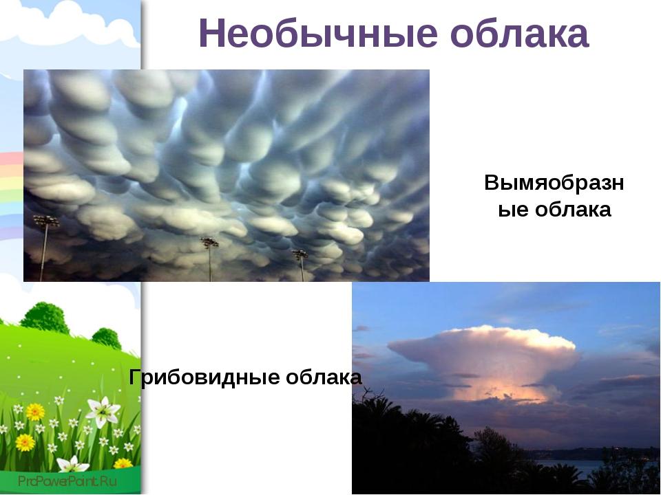 Необычные облака Вымяобразные облака Грибовидные облака ProPowerPoint.Ru