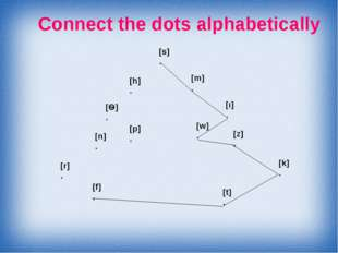 Connect the dots alphabetically [s] . [m] . [ı] . [w] . [z] . [k] . [t] . [f]