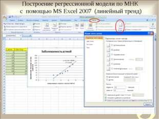 Работа 13 получение регрессионных моделей в ms excel работа для моделей екатеринбург