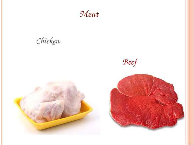Meat Chicken Beef