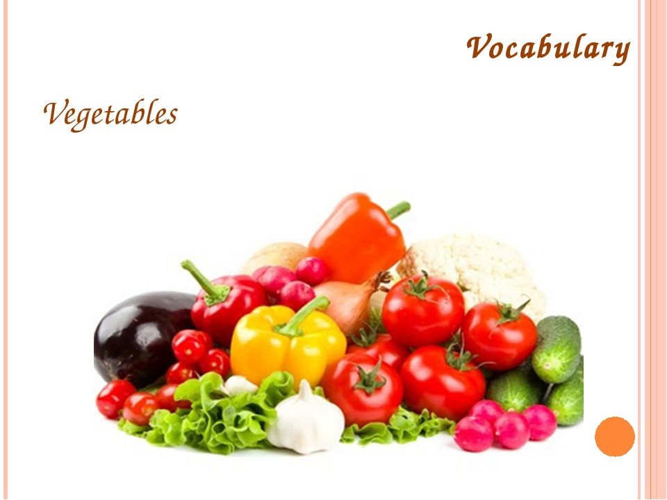Vocabulary Vegetables