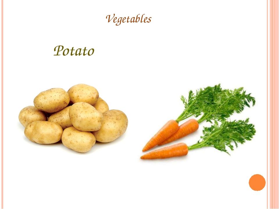 Vegetables Potato Carrot