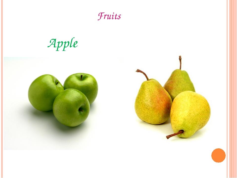 Fruits Apple Pear