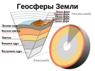 Геосферы Земли