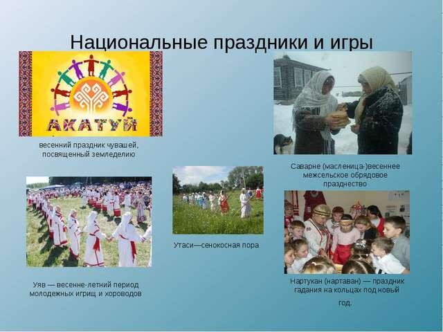 Национальные праздники и игры весенний праздник чувашей, посвященный земледел...