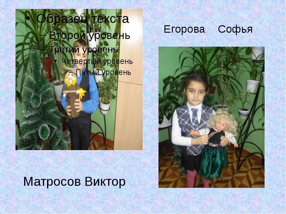 Егорова Софья Матросов Виктор