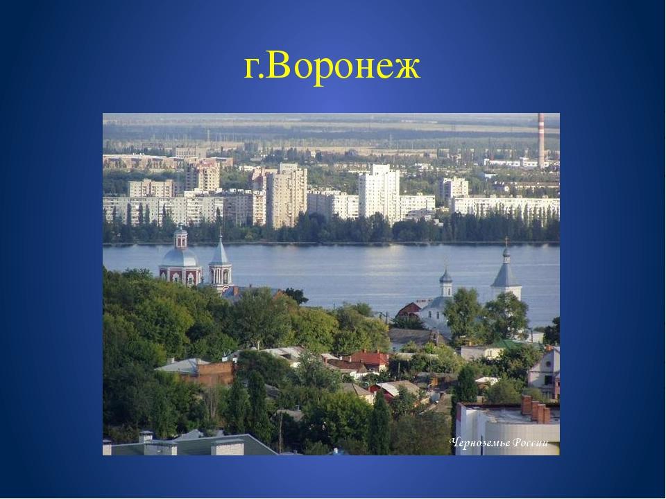 г.Воронеж