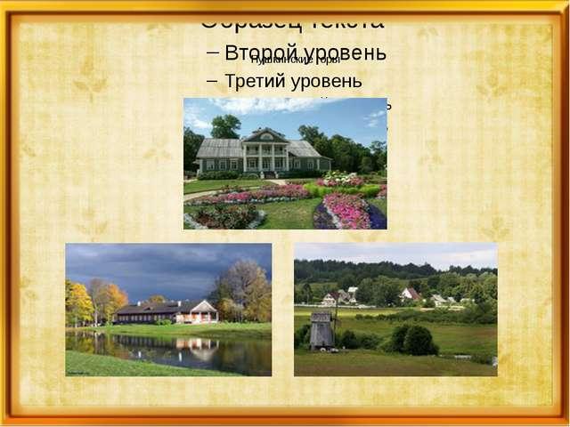 Пушкинские горы Пушкинские Го́ры — посёлок городского типа, административный...
