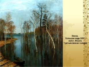 Весна. Большая вода.1897, холст. Масло. Третьяковская галерея