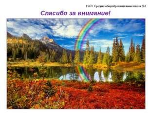 ГБОУ Средняя общеобразовательная школа №2 Спасибо за внимание!