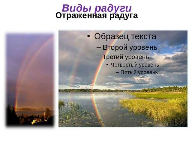 Отраженная радуга Виды радуги