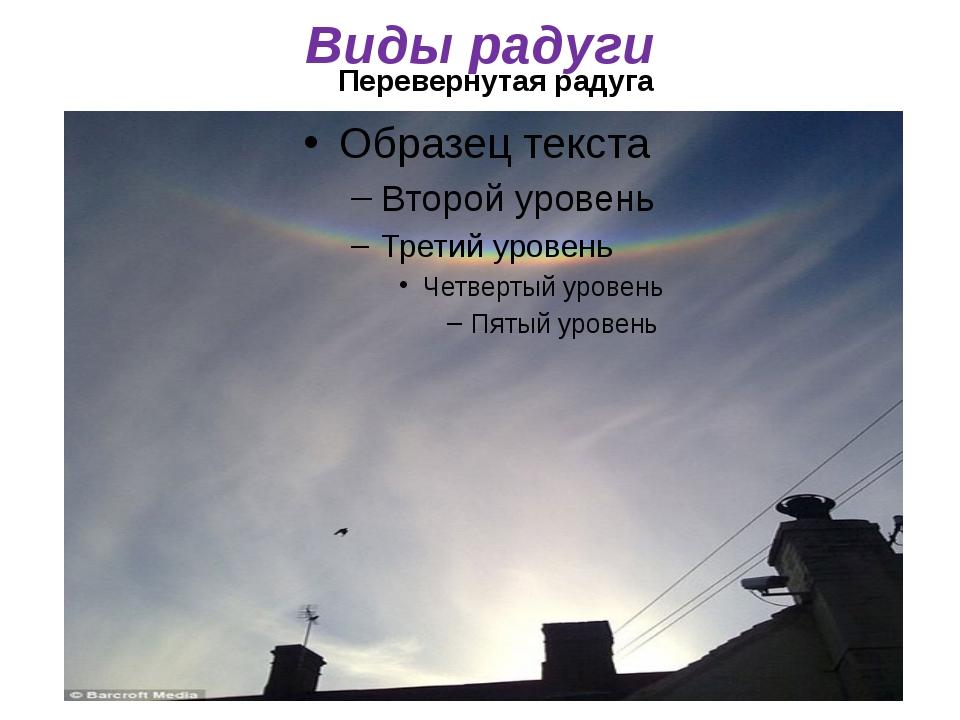 Перевернутая радуга Виды радуги