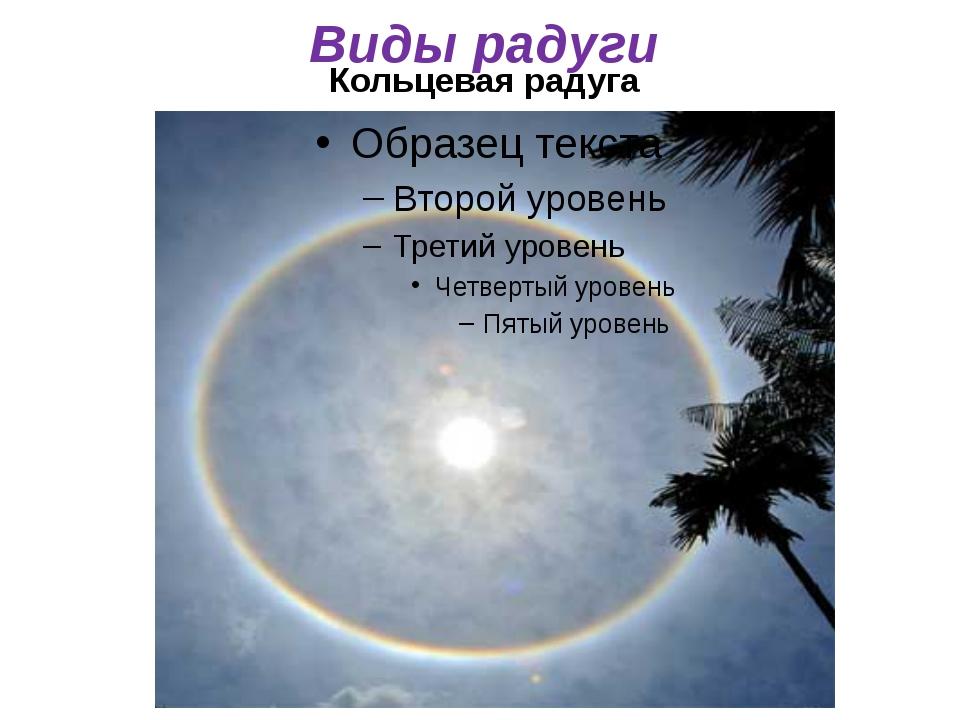Кольцевая радуга Виды радуги