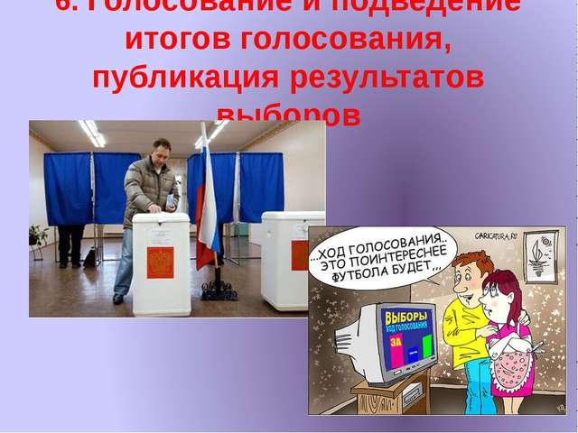 6. Голосование и подведение итогов голосования, публикация результатов выборов